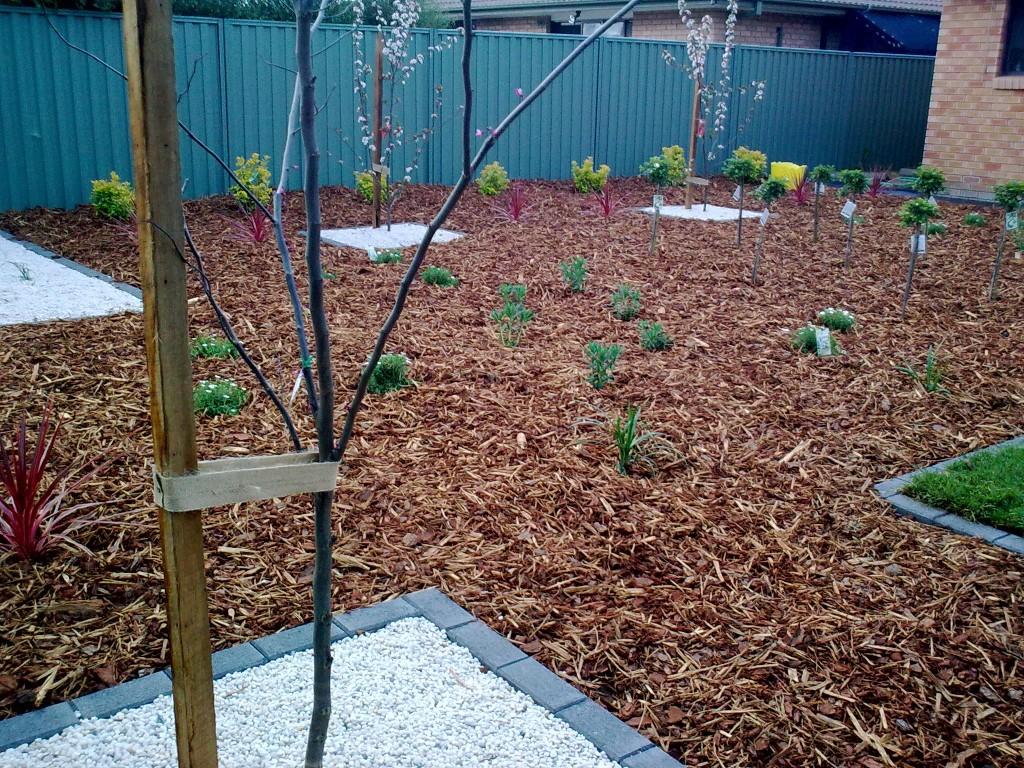 Mulch Garden Bed